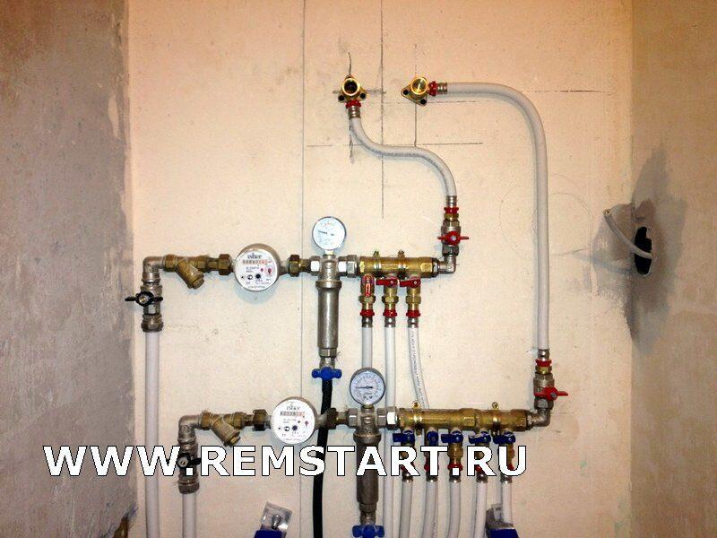 Водопровод в квартире из металлопластика