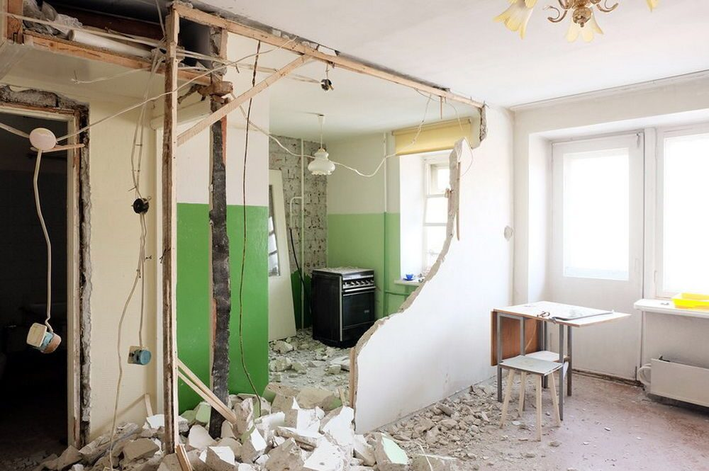 ремонт квартир перегородки