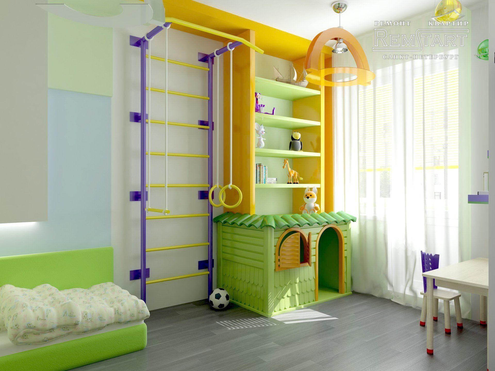 дизайн детской комнаты стили интерьера оформления и зонирования