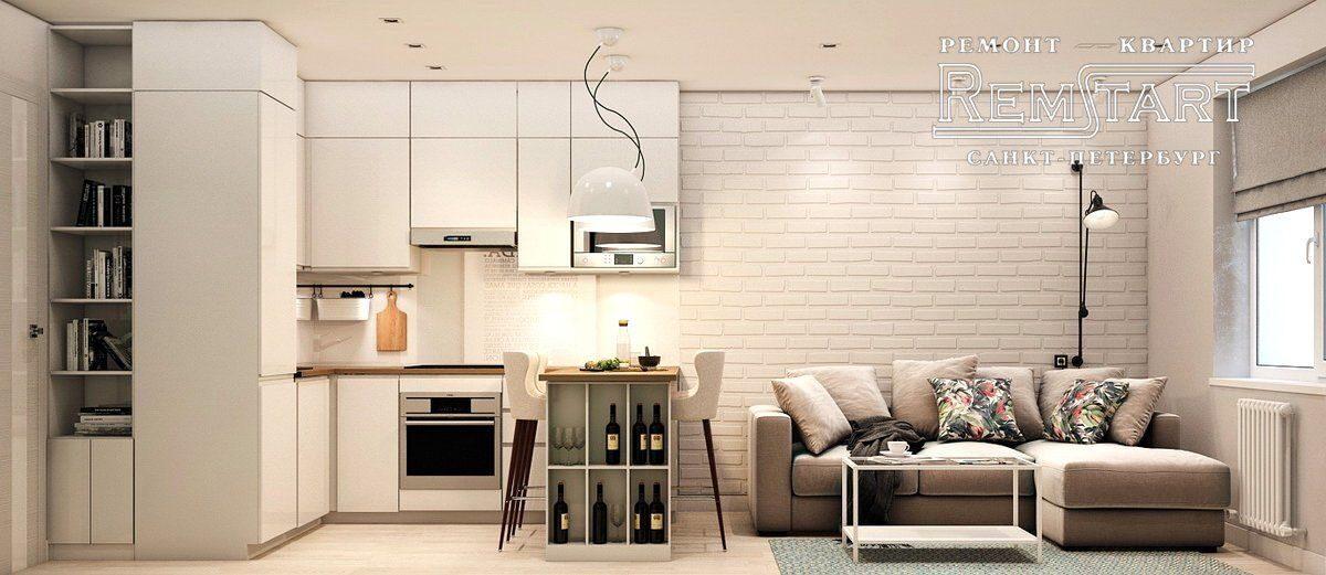 Дизайн и ремонт квартир студий под ключ