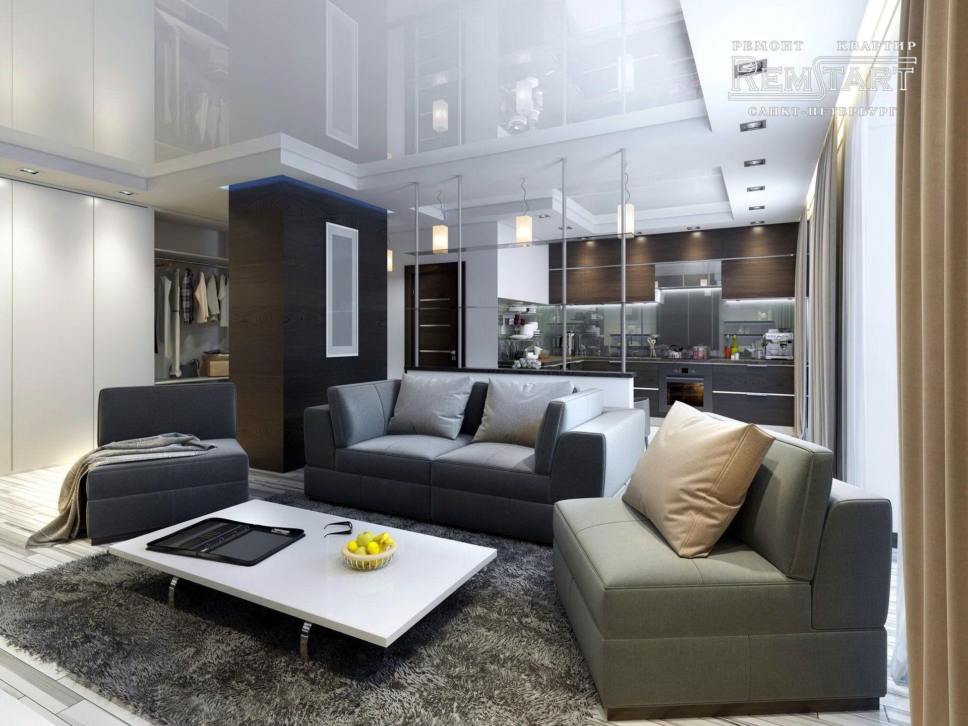 Дизайн интерьера гостиной - Ремстарт