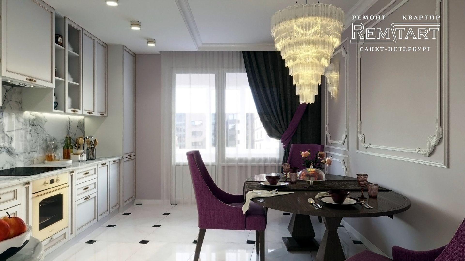 Дизайн кухни ЖК Царская Столица СПБ