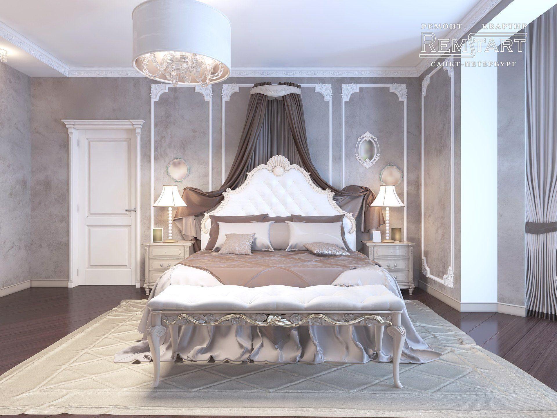 Дизайн спальни ЖК Царская Столица СПБ