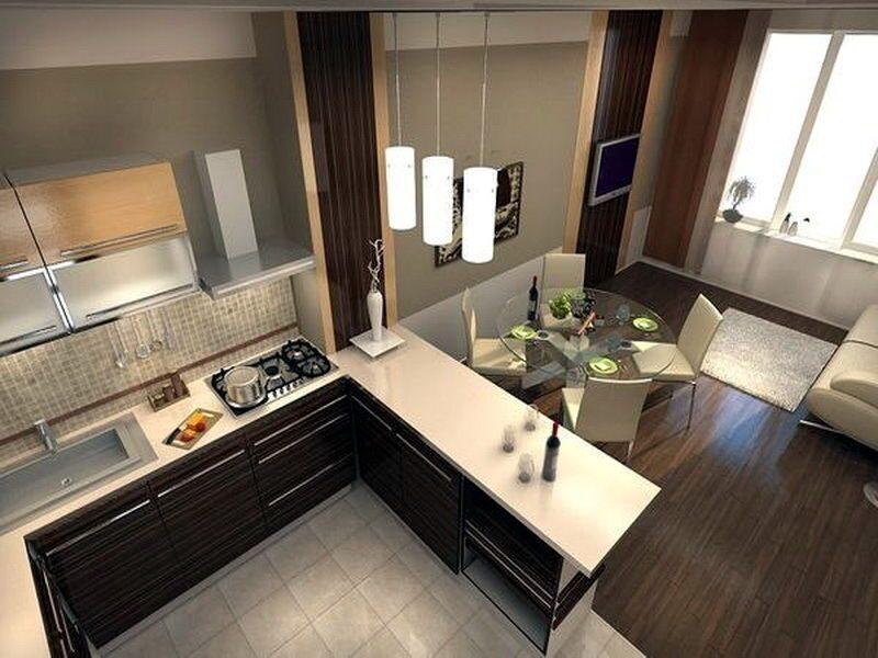 Маленькие кухни-гостиные дизайн фото