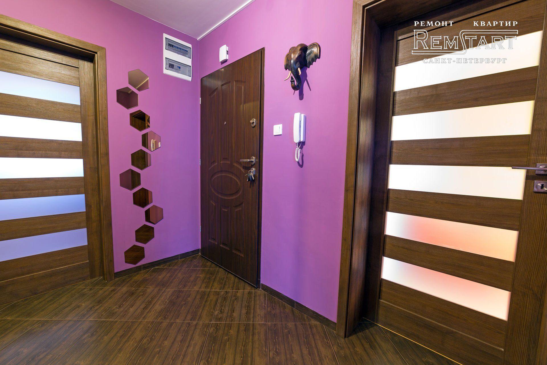 Сочетание фиолетового и коричневого в интерьере фото