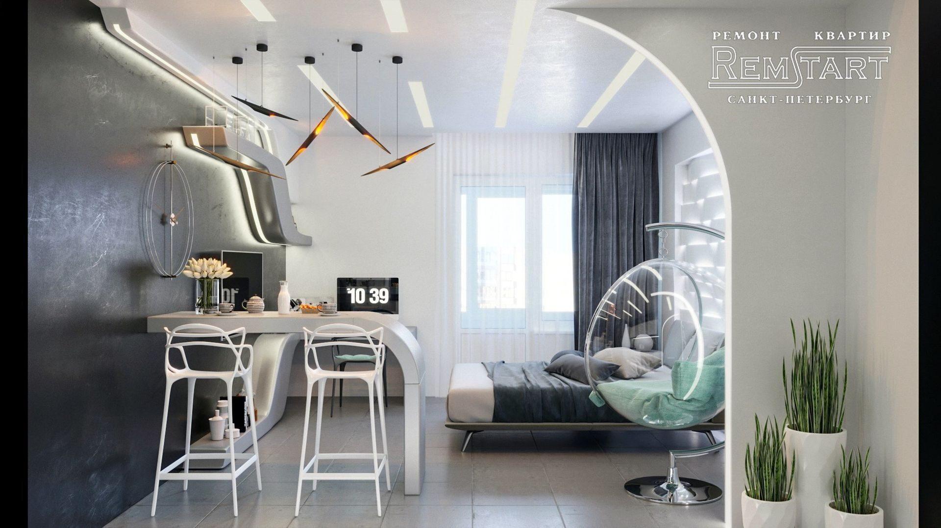 Красивый дизайн квартиры ЖК Солнечный город
