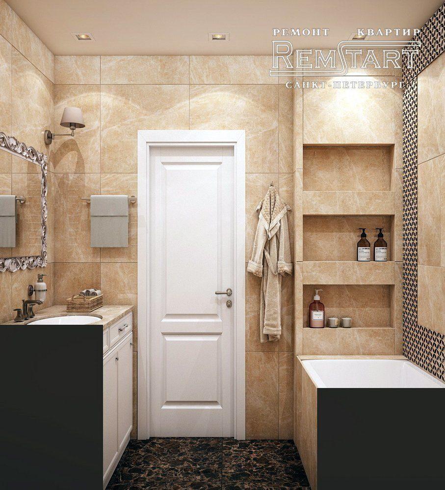 Красивый дизайн проект квартиры в новостройке Санкт-Петербург
