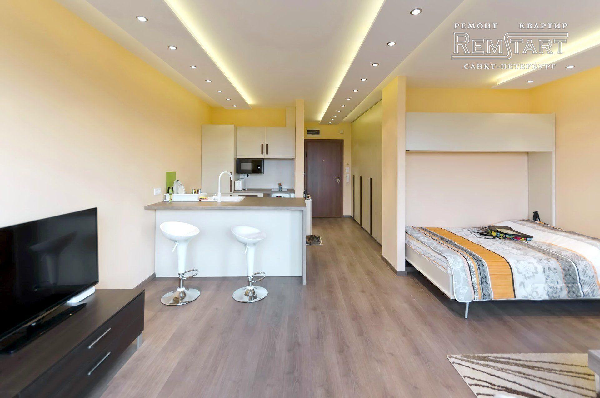 Дизайн и ремонт квартиры студии под ключ